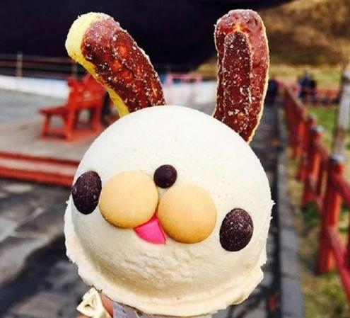 超可爱!夏天就需要一个萌萌哒兔子冰淇淋