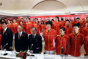 内地奥运精英代表团在香港举行新闻发布会