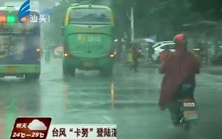 """台风""""卡努""""登陆湛江 我市雨势减小气温回升 2017-10-16"""