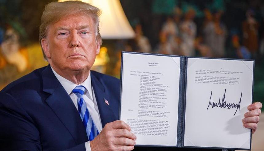 特朗普宣布美国将退出伊核协议 重启对伊制裁