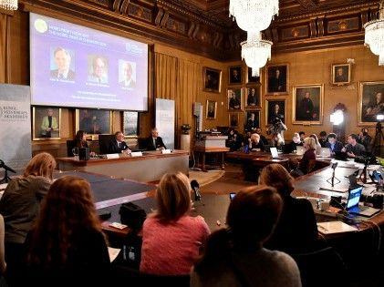 2019年諾貝爾獎頒獎儀式在斯德哥爾摩舉行