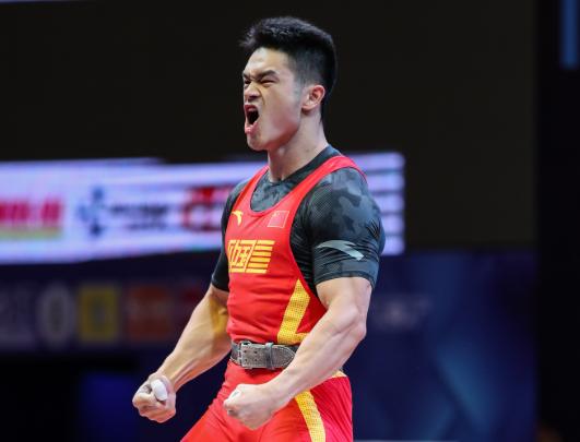 2019世界举重锦标赛男子73公斤级:石智勇破纪录包揽三金