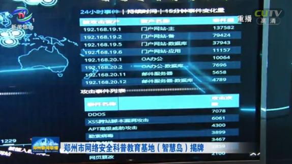 郑州市网络安全科普教育基地(智慧岛)揭牌
