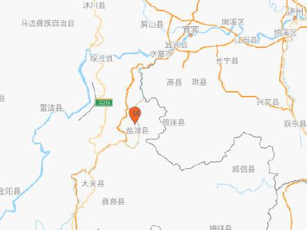 云南昭通市盐津县发生4.7级地震 震源深度10千米