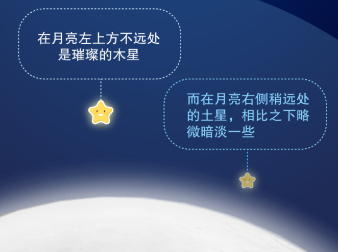 """7月25日天宇上演""""双星拱月""""天象"""